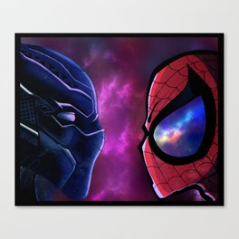 Panther vs Spidey Canvas Print