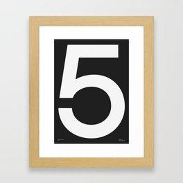 No. 5 — Black Framed Art Print