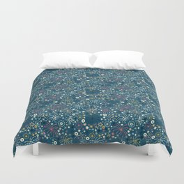 There are fireworks everywhere (blue) Duvet Cover