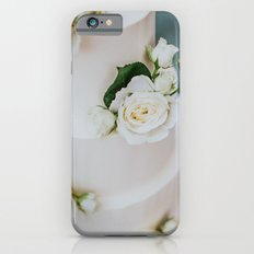 White Wedding Cake and Flowers iPhone 6s Slim Case