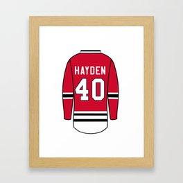 John Hayden Jersey Framed Art Print