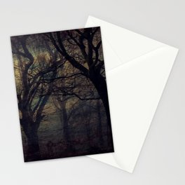 Forest at Night Stationery Cards