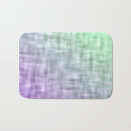 Green and purple mist abstract design Bath Mat