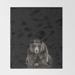 hello bear Throw Blanket