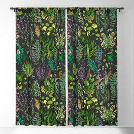 Aromatic Garden for Health and Well Being Blackout Curtain