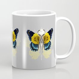 Bird skull and yellow roses Coffee Mug