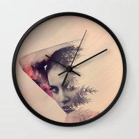 virginia Wall Clocks featuring virginia by Peg Essert