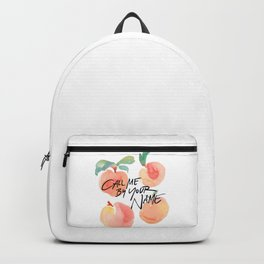 Call Me By Your Name - Peaches Backpack