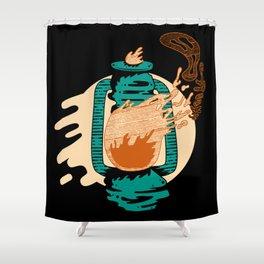 Spooky Lantern Shower Curtain