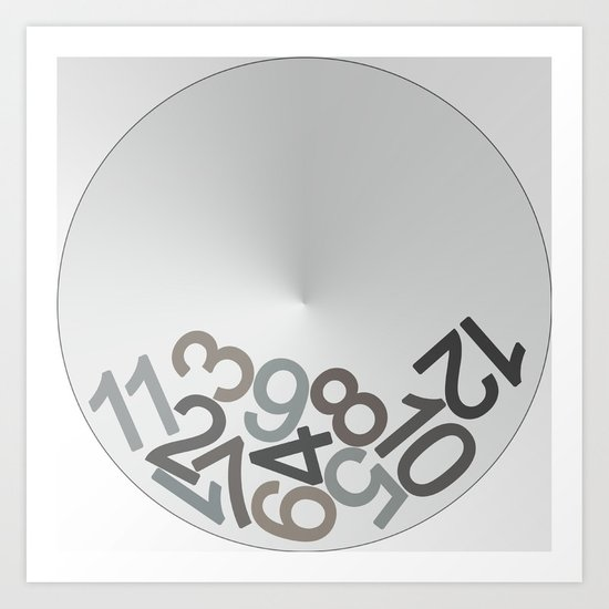 clock digits Art Print