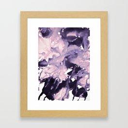 inkblot marble 9 Framed Art Print