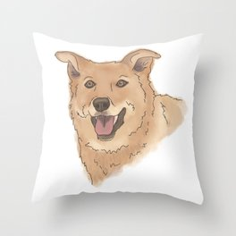 Brody no background Throw Pillow