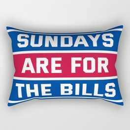 Sundays Are for the bills Rectangular Pillow