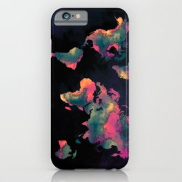world map 74 iPhone Case