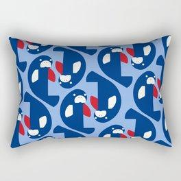 West Indian manatee - Costa Rica national cymbol, flag color Rectangular Pillow