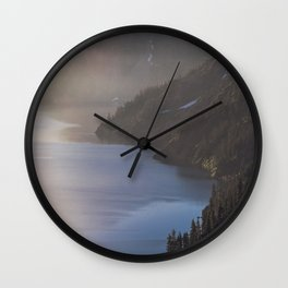 First Light at the Lake - Nature Photography Wall Clock