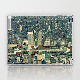 indianapolis city skyline green Laptop & iPad Skin