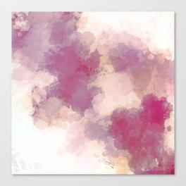 Mauve Dusk Abstract Cloud Design Canvas Print