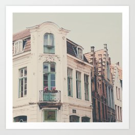 Bruges apartment building print  Art Print