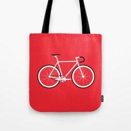 Red Fixed Gear Bike Tote Bag