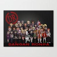 dangan ronpa Canvas Prints featuring Dangan Ronpa - Despair Survival Program by marisue