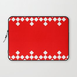 Red White Argyle Pattern Laptop Sleeve