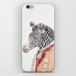 Zebra Cream iPhone Skin