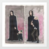 snape Art Prints featuring Uncle Snape by CaptBexx