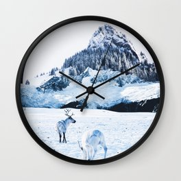 Winter dreamland Wall Clock