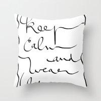 boss Throw Pillows featuring Boss  by Ben Nguyen
