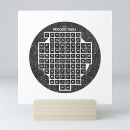 Periodic Table of Elements Inside Circle School Chalkboard Mini Art Print
