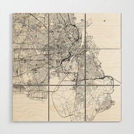 Copenhagen White Map Wood Wall Art