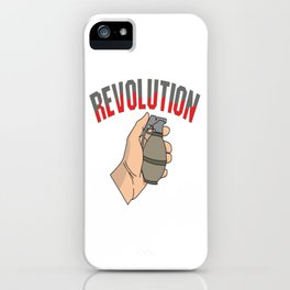This is the awesome revolutionary Tshirt Those who make peaceful revolution THE REVOLUTION FIST iPhone Case