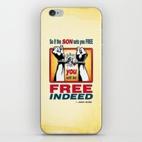 aelwen iPhone & iPod Skins featuring FREE INDEED! by Peter Gross