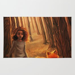The Fox in the Forest Rug