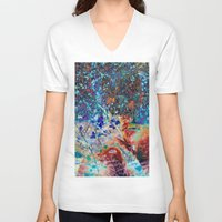 splatter V-neck T-shirts featuring Splatter by Stephen Linhart