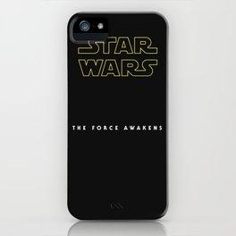 The Force Awakens, Vintage Poster, tar wars, vintage movie poster iPhone Case