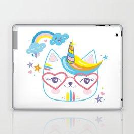 caticorn unicorn crazy cat lady unicat gift kawaii tee shirt Laptop & iPad Skin