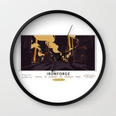 Ironforge Classic Rail Poster Wall Clock