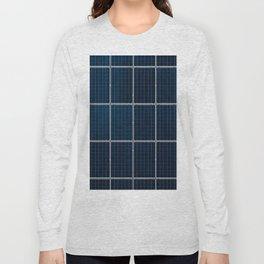 Solar Panel Pattern (Color) Long Sleeve T-shirt