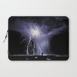 Lightning and Rain Funnel Laptop Sleeve
