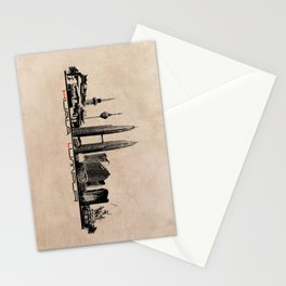 Kuala Lumpur skyline Stationery Cards