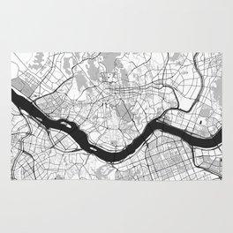 Seoul Map Gray Rug