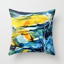 WinterFullMoon Throw Pillow
