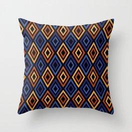 Tribal Diamond Pattern Throw Pillow