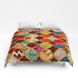 -A32- Epic Colored Traditional Moroccan Artwork. Comforters