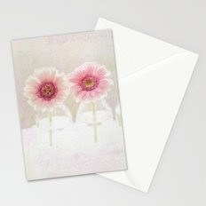 3 daisies Stationery Cards
