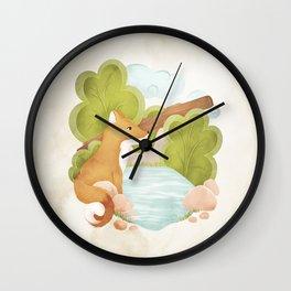 FOREST FOX Wall Clock
