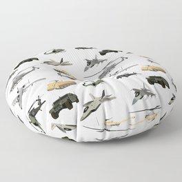 American Military Pattern Floor Pillow