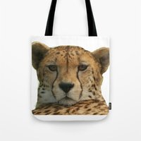 cheetah Tote Bags featuring Cheetah by Sean Foreman